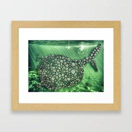 Ballena Espiral Framed Art Print