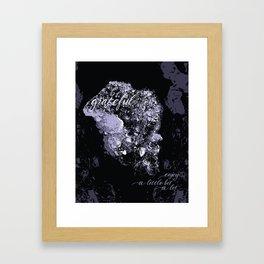 Happy Amethyst Framed Art Print