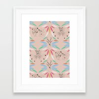 safari Framed Art Prints featuring Safari by Laura Braisher