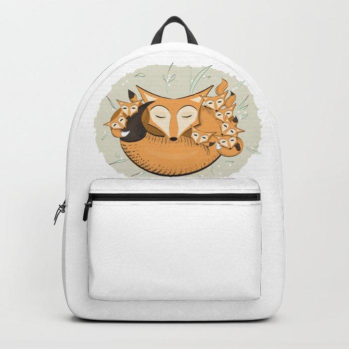 Mom fox Backpack