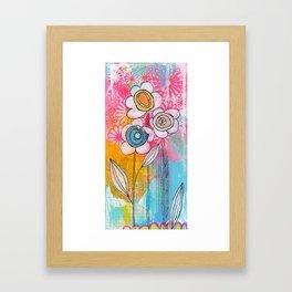 flower garden no.01 Framed Art Print