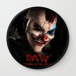 RAW2 - Return of the Jester Wall Clock