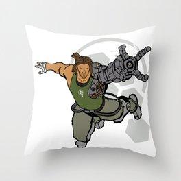 BIONIC ARMMMMM Throw Pillow