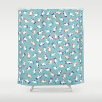 unicorns Shower Curtains featuring Unicorns! by Kashidoodles Creations