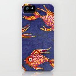 Goldfish batik iPhone Case