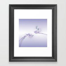 Fey Lights Fractal in Violet Framed Art Print