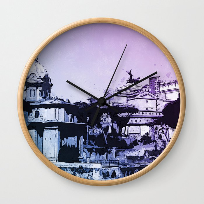 The Imperial Fora, Rome Wall Clock
