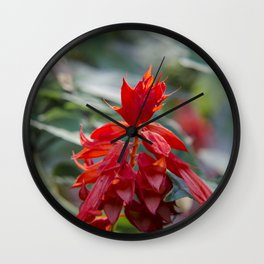 Fiercely Red Wall Clock