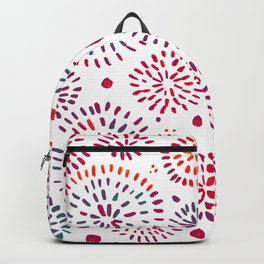 Abstract watercolor sparkles – purple and teal Backpack