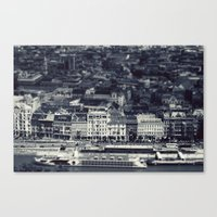 budapest Canvas Prints featuring Budapest by farsidian