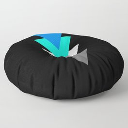 Frayromanticism in Shapes Floor Pillow