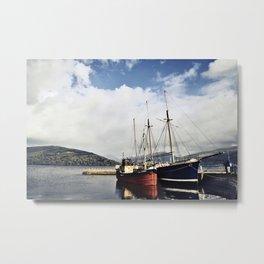 Ships at Inverary Metal Print