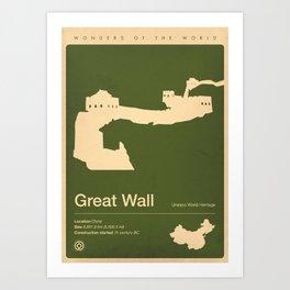 Great Wall, China Art Print