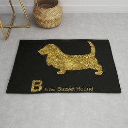 Basset Hound | Dog | gold foil Rug