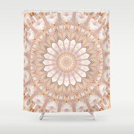 Mandala light creature Shower Curtain
