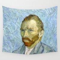 van gogh Wall Tapestries featuring Vincent van Gogh by Premium