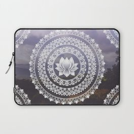 Lotus Mandala - Windermere Hills Landscape Laptop Sleeve