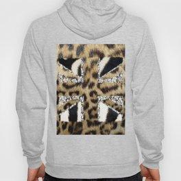 Wild | Hipster leopard Print Zebra UK Union Jack Flag  Hoody
