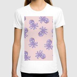 Octopus - Light Pink T-shirt