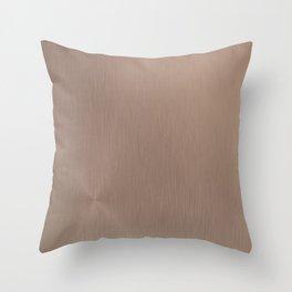 Rose Gold Brushed Metal Throw Pillow