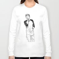 niall horan Long Sleeve T-shirts featuring niall by otp-hedgefrog