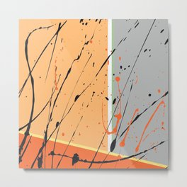 Orange Ecstacy Metal Print