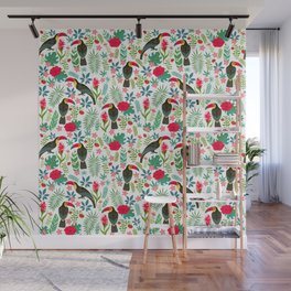 Floral Toucan Wall Mural
