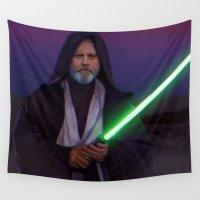 luke hemmings Wall Tapestries featuring Luke Skywalker  by Saint Genesis