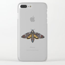 African Death's Head Hawkmoth (Acherontia atropos) Clear iPhone Case