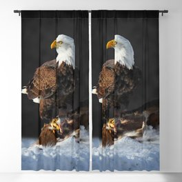 Bald Eagle and Deer Blackout Curtain