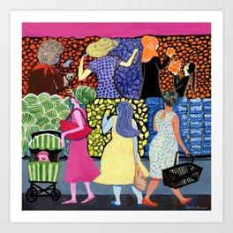Summer Shoppers Art Print