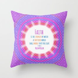 Emerge into the Light Throw Pillow