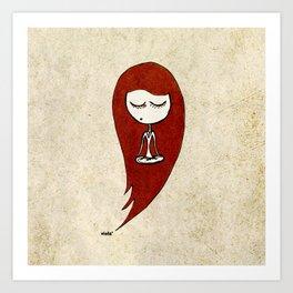 Enjoying the silence (red) Art Print
