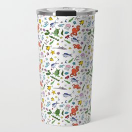 Sealife Doodles - Color Travel Mug