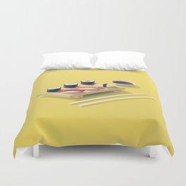 Sushi Isometric - Yellow Duvet Cover