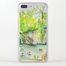 Krause Springs - historic Texas natural springs swimming hole Clear iPhone Case