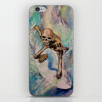 surfer iPhone & iPod Skins featuring Surfer by Michael Creese