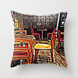 Creativity Cafe Throw Pillow