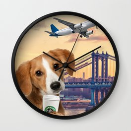Bree in New York Wall Clock