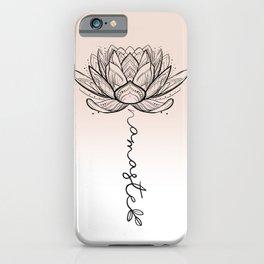 Namaste Lotus Flower iPhone Case