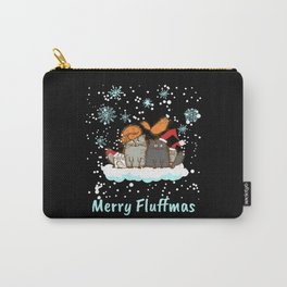 Merry Fluffmas Christmas Cat Christmas Present Carry-All Pouch