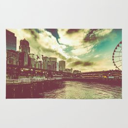 Seattle Pike Place Market Pier 57 Rug
