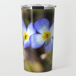Four tiny bluet flowers Travel Mug