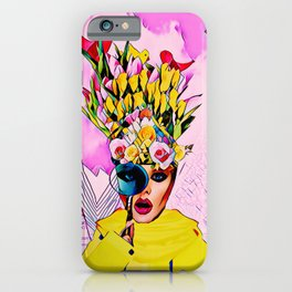 Floral girl iPhone Case