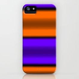 Orange & Purple Horizontal Stripes iPhone Case