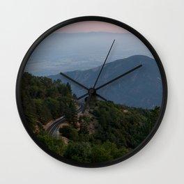 Mountain Drive at Sunset (Running Springs, California) Wall Clock