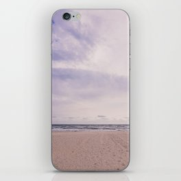 Empty beach iPhone Skin