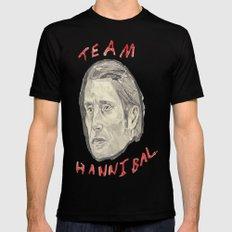 Team Hannibal MEDIUM Black Mens Fitted Tee