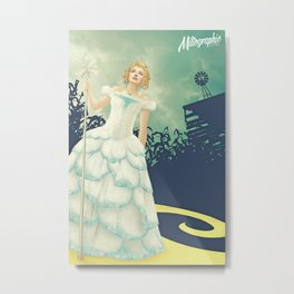 """I hope they don't get lost..."" - Glinda Metal Print"