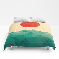 Comforters featuring The ocean, the sea, the wave by Picomodi